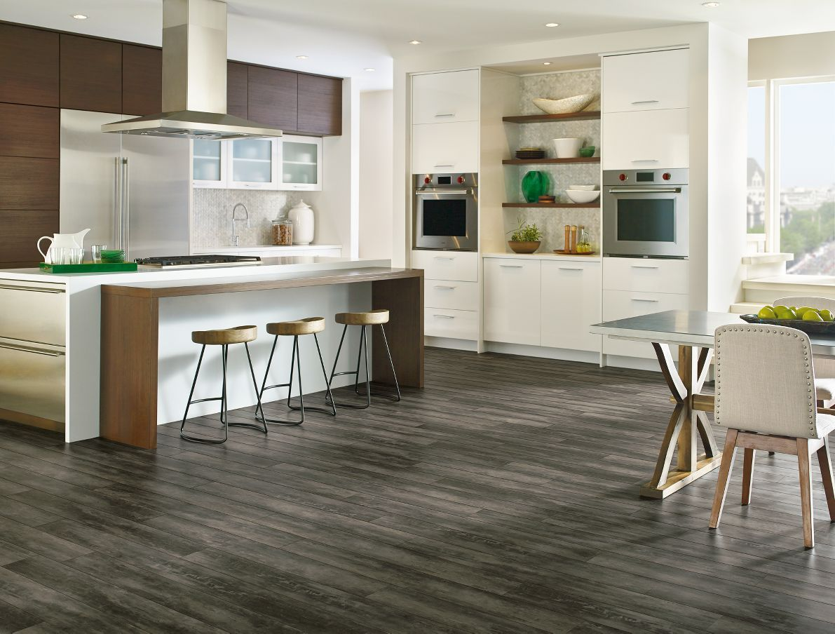 Armstrong luxury vinyl plank flooring lvp gray wood Luxury kitchen flooring