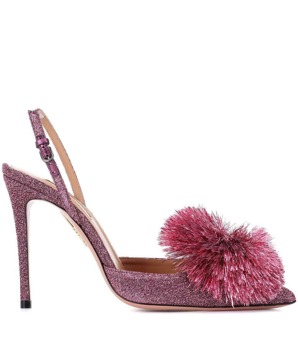 Powder Puff 105 glitter pumps Aquazzura SkJh0L0