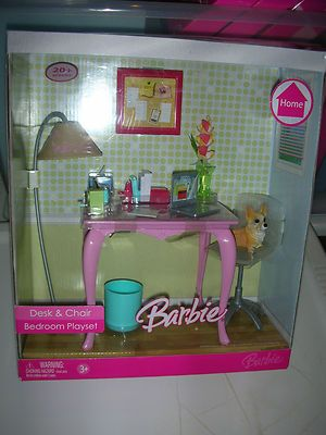 Barbie Desk And Chair Bedroom Playset Ebay