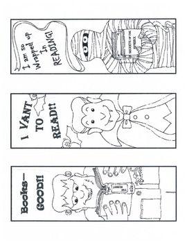 freebie cute halloween bookmarks - Halloween Book Marks