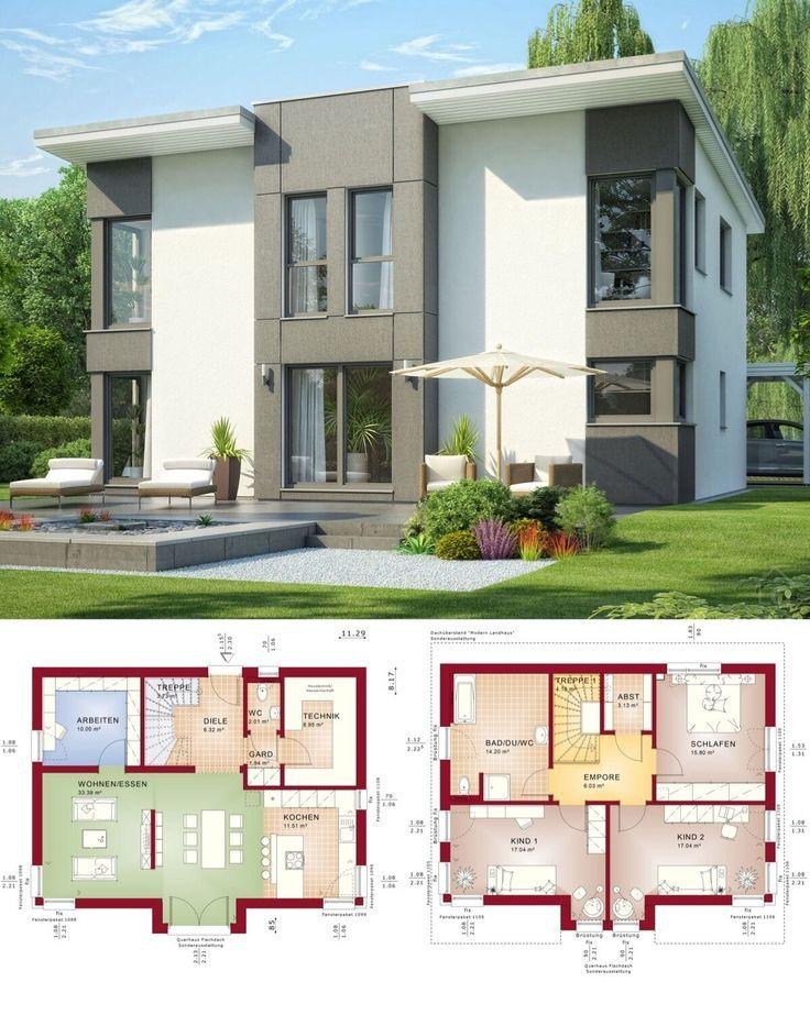 Modernes Fertighaus mit Pultdach Architektur & Erker
