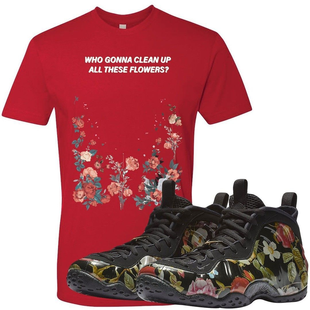 f1f13c792e3a7 Match the Air Foamposite One Floral sneakers perfectly today with exclusive  sneaker matching clothing from Foot Clan. Be sure to follow us for more  products ...