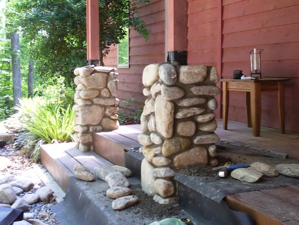 river rock columns for the home pinterest columns