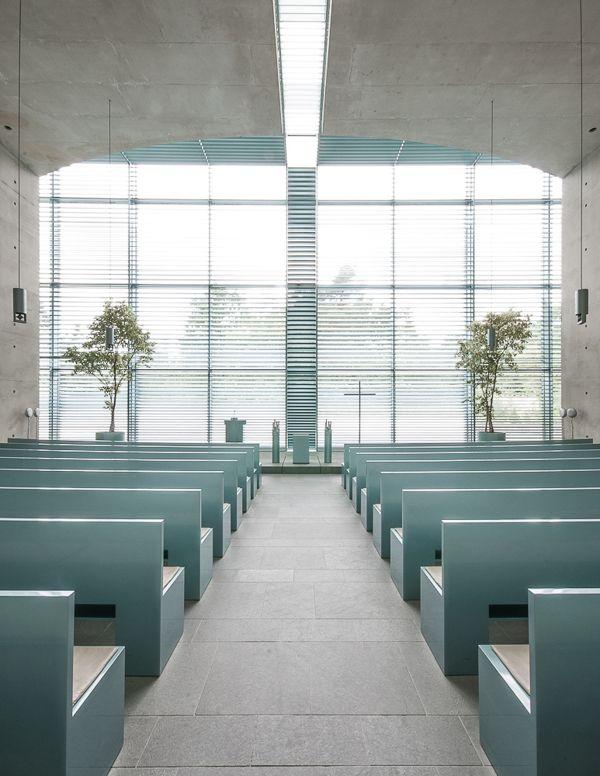 The minimalist arch to go church interior design - Modern funeral home interior design ...