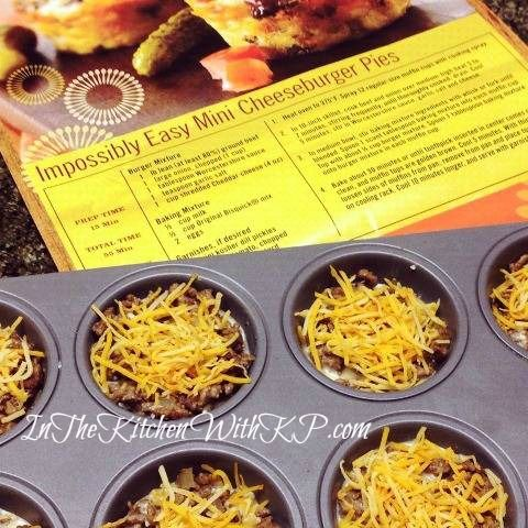 Individual Impossible Cheeseburger Pies