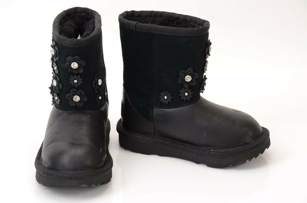 (Sponsored)eBay - Ugg Classic Short II black girl 8 suede leather petal embellished boot shoe $140 #uggbootsoutfitblackgirl (Sponsored)eBay - Ugg Classic Short II black girl 8 suede leather petal embellished boot shoe $140 #uggbootsoutfitblackgirl