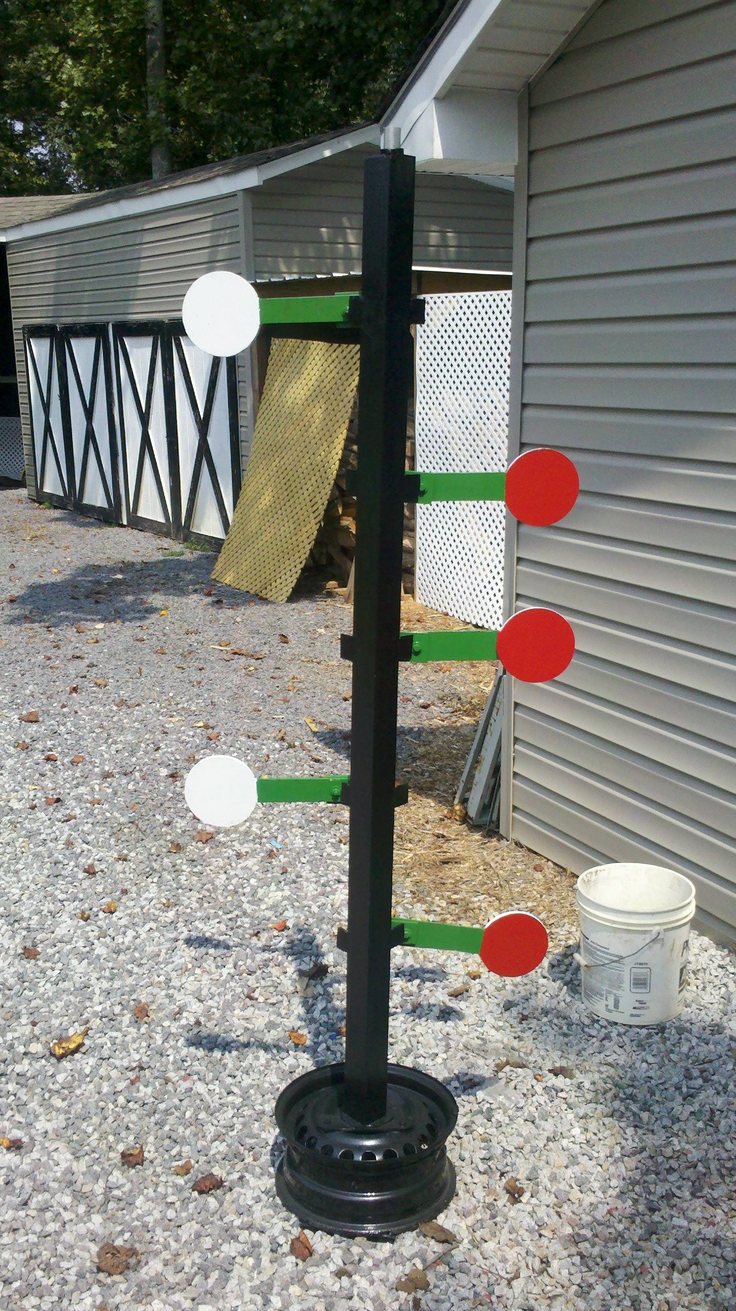 Dueling tree shooting targets shooting range outdoor