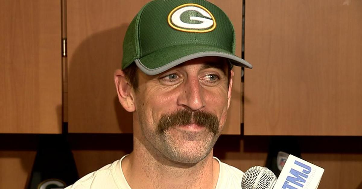 Aaron Rodgers New Mustache Could Lead The Packers To A 16 0 Season Mustache Aaron Rodgers Mustache Aaron Rodgers
