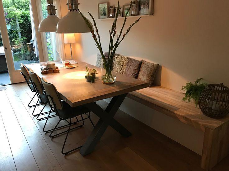 Onze nieuwe eetkamerbank, zelf gemaakt! 😍 – My Blog