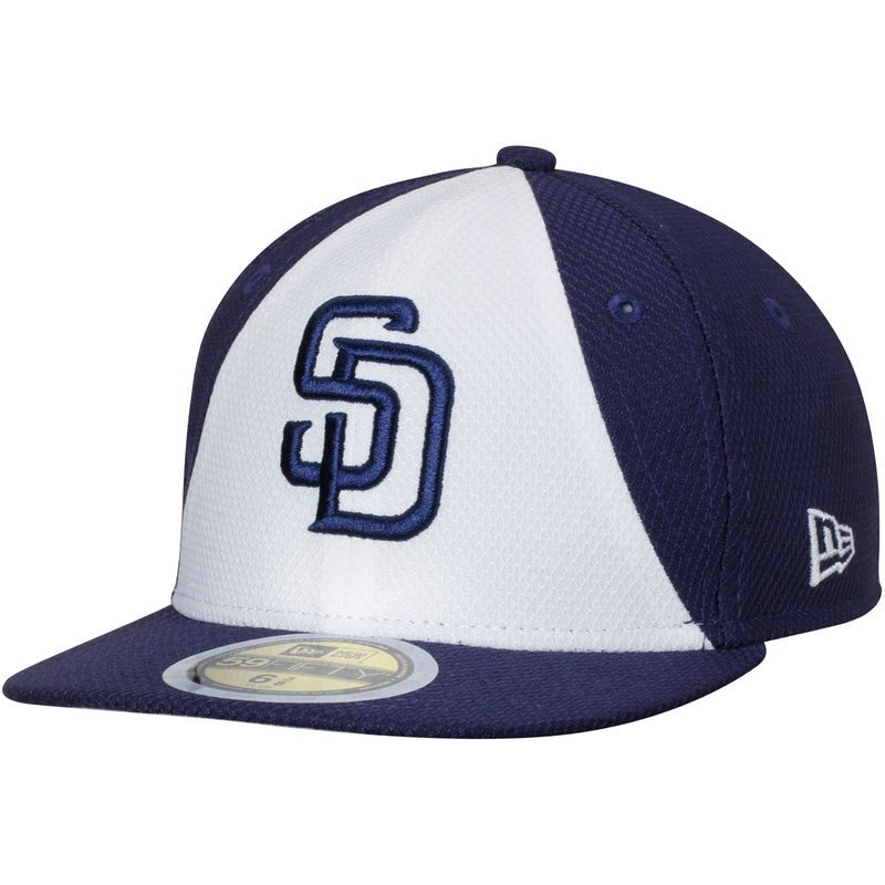 low priced f1df1 898a6 San Diego Padres New Era Youth Diamond Era 59FIFTY Fitted Hat - White Navy