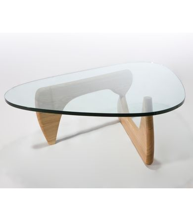 Glass Coffee Tables Replica Isamu Noguchi Style Glass Coffee Table