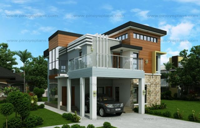 50 Images Of 15 Two Storey Modern Houses With Floor Plans And Estimated Cost With Images Home Design Plans Small House Design Plans