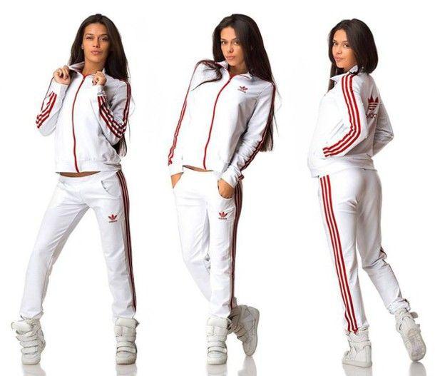 adidas sweatsuit white