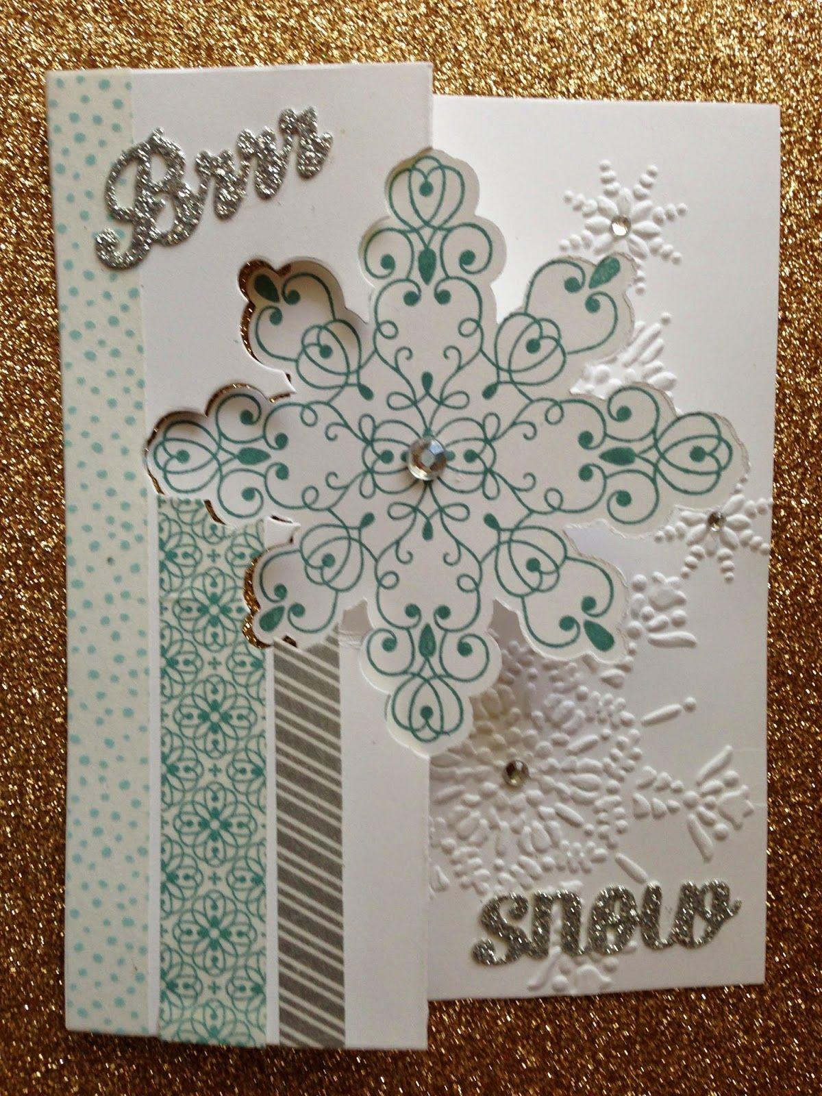Наступающим, снежинки открытка скрапбукинг
