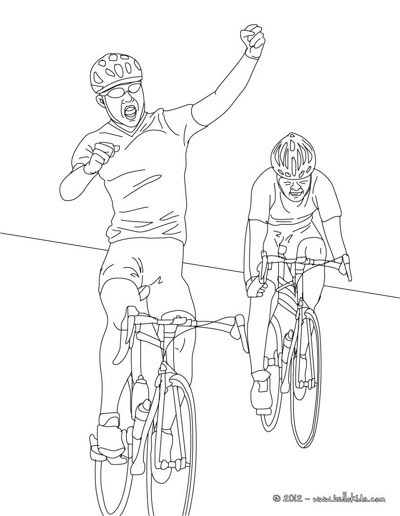 Nice cycling coloring page! Enjoy coloring this road cycling race ...