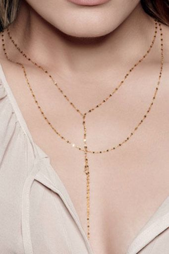 "Lana ""Blake"" Style Double Strand 14k Gold Filled Lariat - Y Necklace as seen on Cameron Diaz in The Other Woman"
