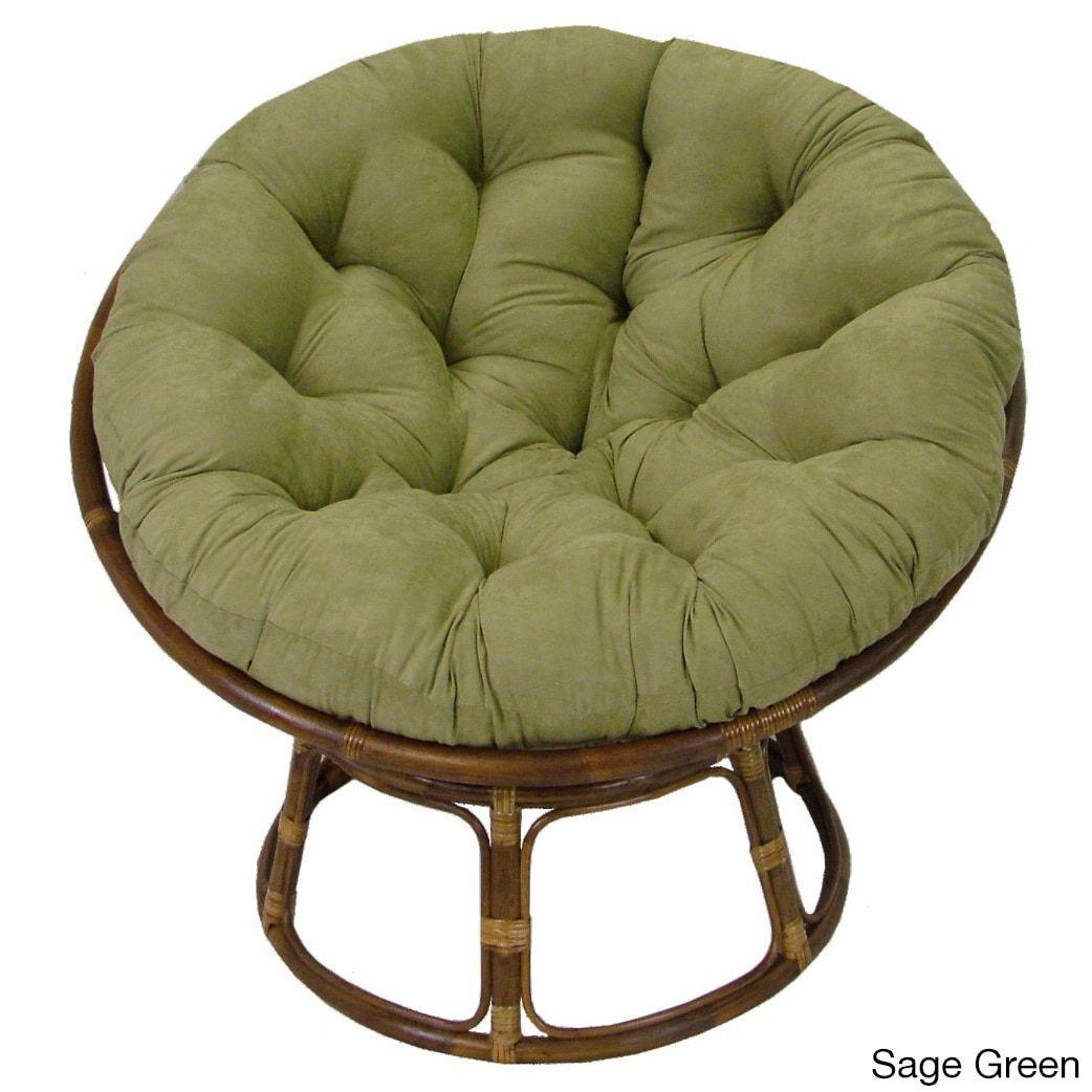 "Indigo 44/"" x 6/"" x 44/"" Blazing Needles Solid Twill Papasan Chair Cushion"