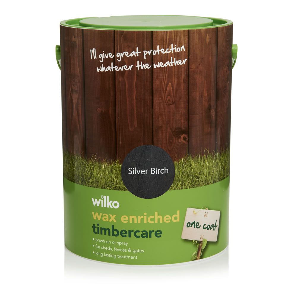 Wax Enriched Timbercare Silver Birch Exterior Wood Paint 5l