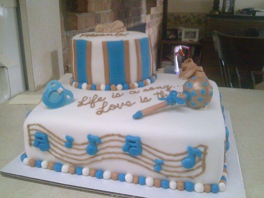 Music Themed Baby Shower Cake