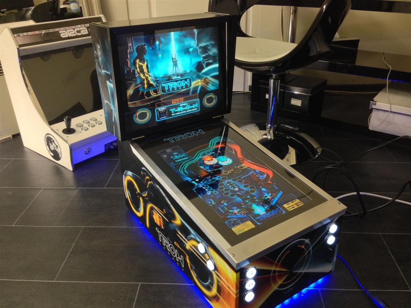 Pincab Mini TRON Future Pinball X Namsan Part 1/3 | Pinball & Video