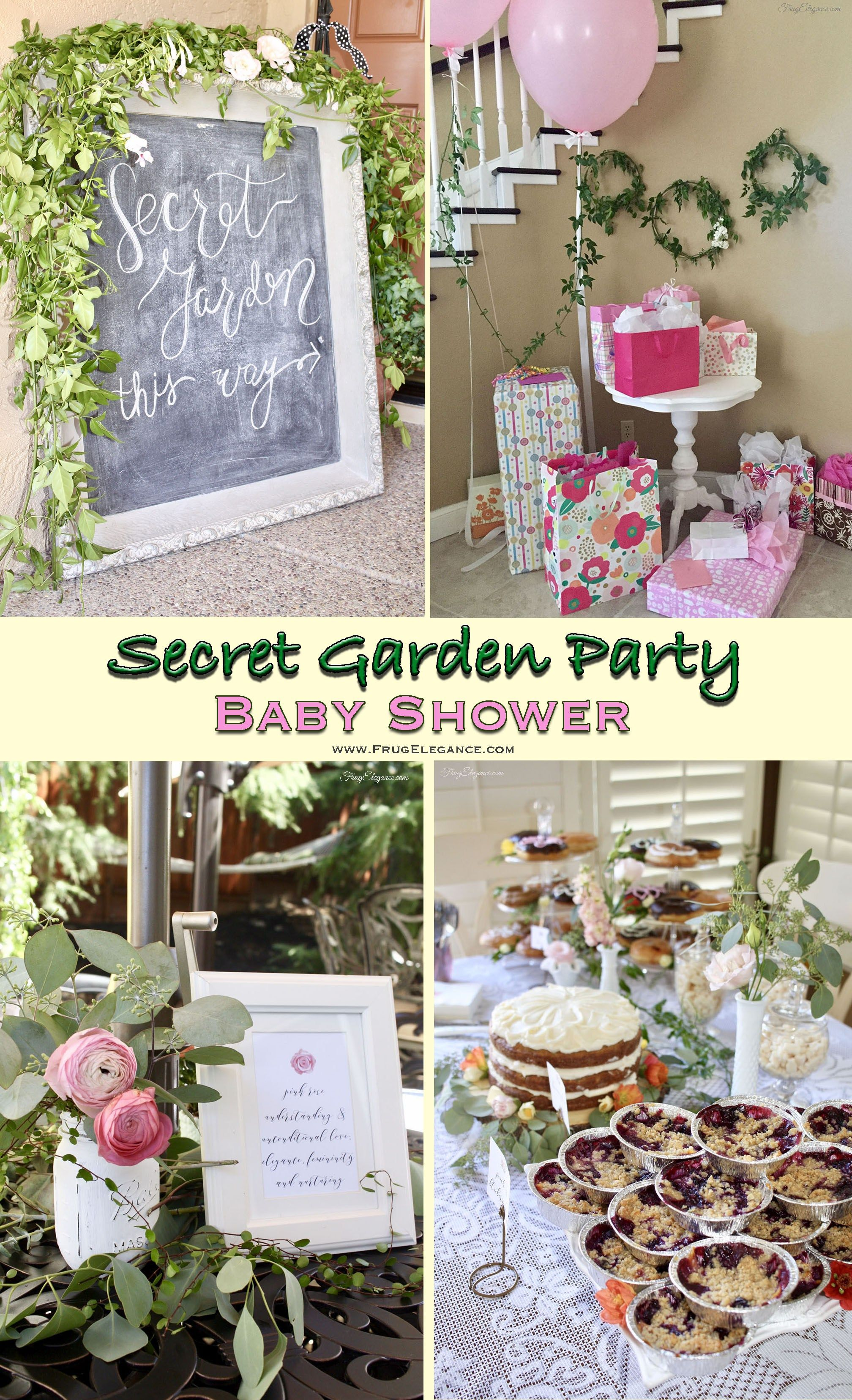 secret garden baby shower | diy entertaining | garden baby showers
