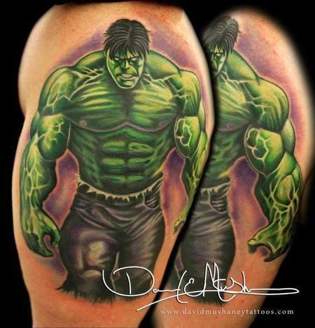A ripped looking Hulk done by David Mushaney