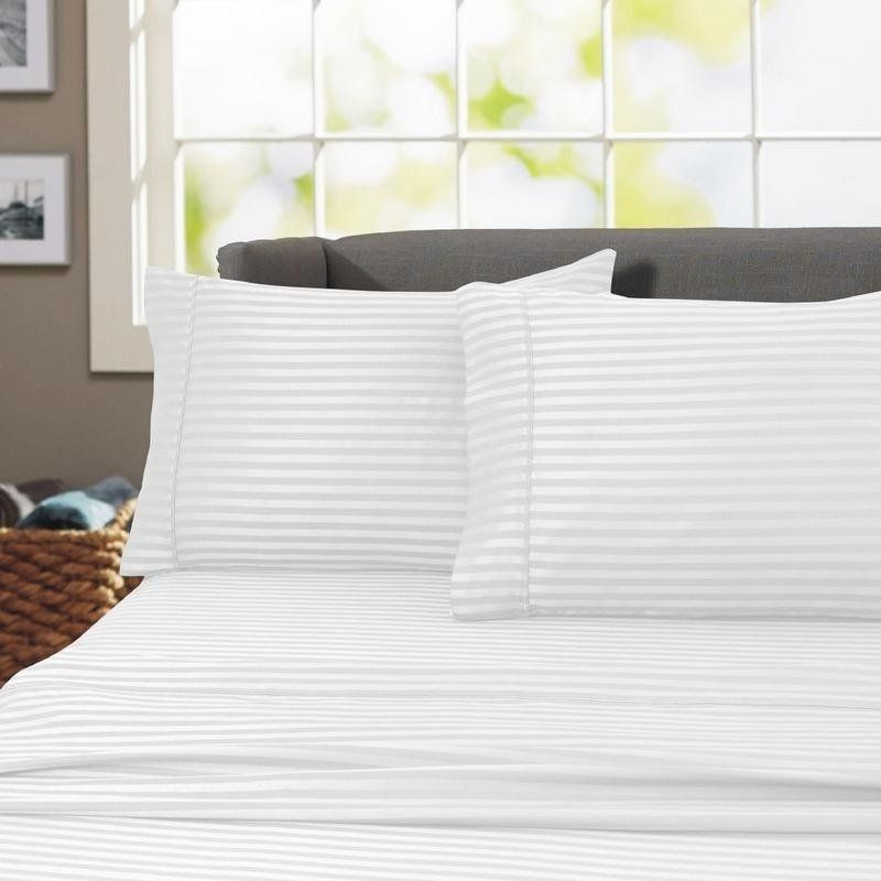 Porch Den Jericho Stripep 600 Thread Count Egyptian Cotton Sheet