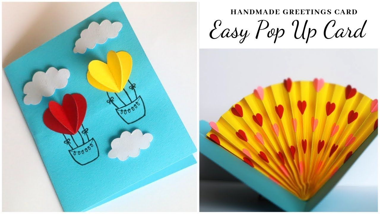 Easy Pop Up Card Heart Handmade Cards Mothers Day Card