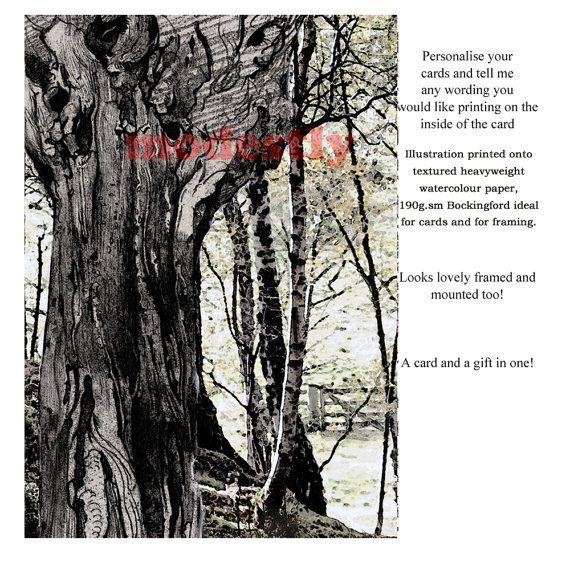 Nature card bespoke card birthday card greeting card artists birthday card greeting card artists card custom card by modestly m4hsunfo