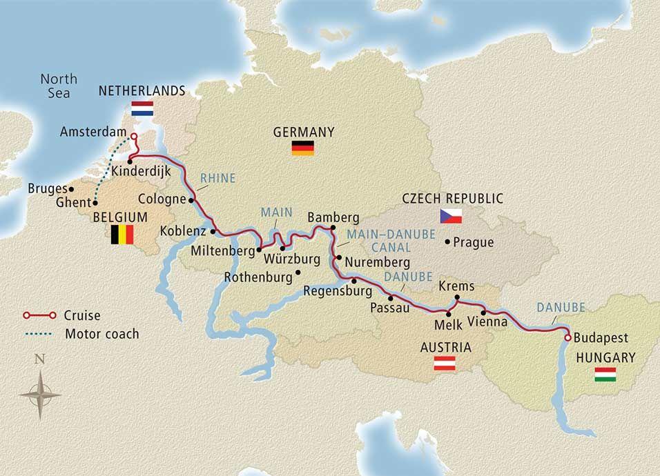 Grand European Tour Belgium 2015 Ghent to Budapest Cruise