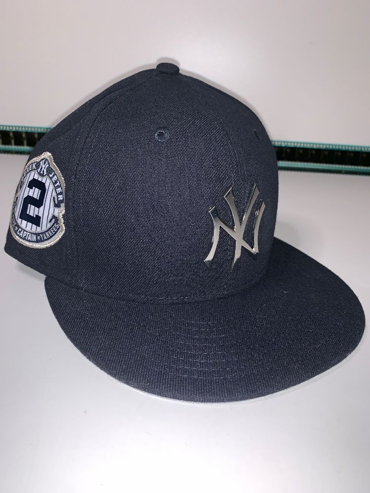 Ny New York Yankees New Era Rare Derek Jeter 2 Hat Cap Embriodered Signature Ebay Derek Jeter New York Yankees Yankees News