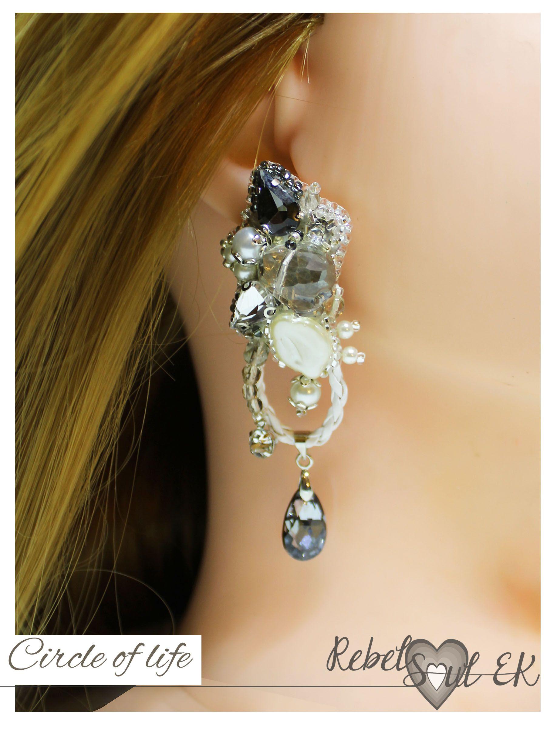 b571a5771 Pirate jewelry, white beadwork wedding jewelry, sculls bracelet, art earrings  long, bridal jewelry, art earrings long, statement bracelet