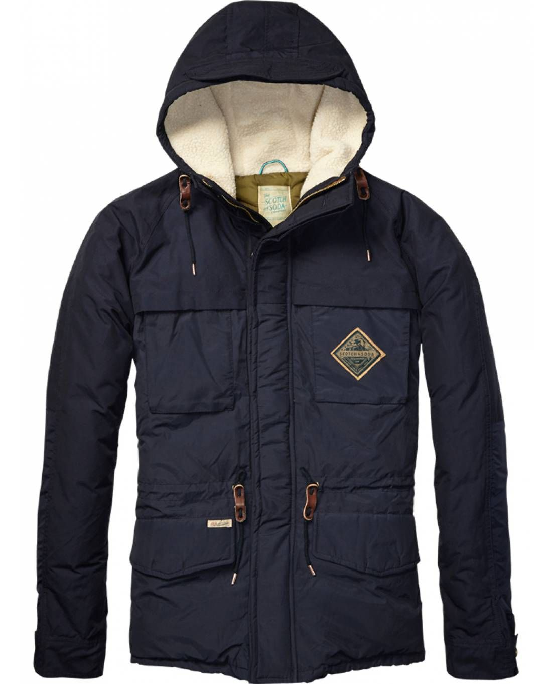 Colour Block Down Jacket  Mens Clothing  Jackets at Scotch  Soda - Official Scotch  Soda Online Fashion  Apparel Shops