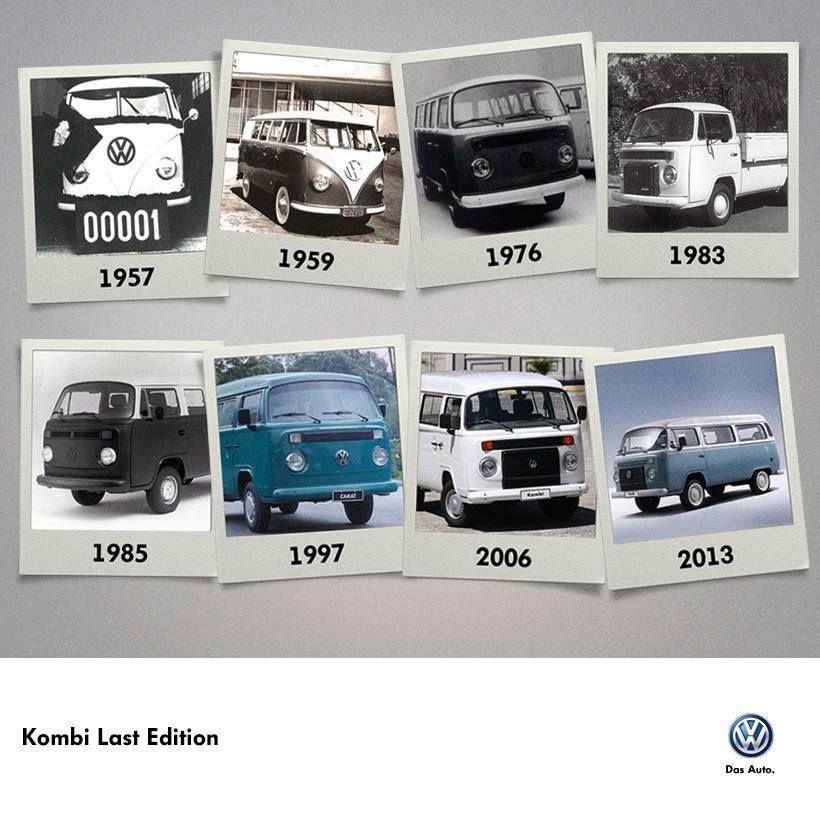 9551bb7ffc Kombis through the years. Last Edition