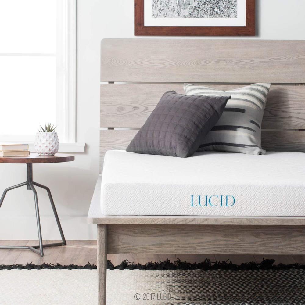 Details about lucid 5 inch gel memory foam mattress dual