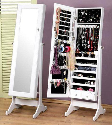 On Organizing Jewelry Mirror jewelry storage Jewelry storage and