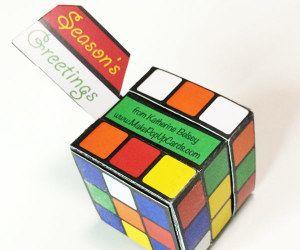Paper Puzzle Box Printable Rubik S Cube Or Calendar Puzzle Box