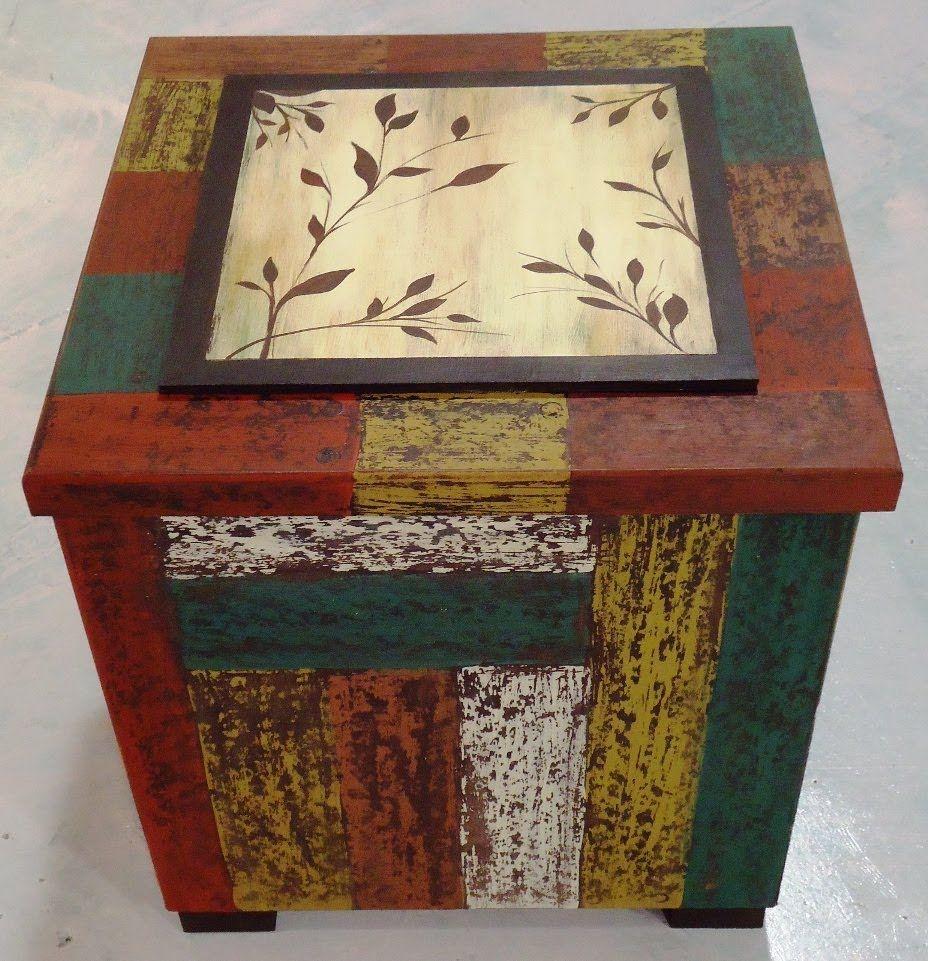 como hacer decapado en una caja con imitacin de madera recuperada pla