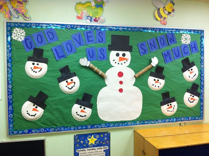 Classroom Bulletin Boards January Christian Preschool