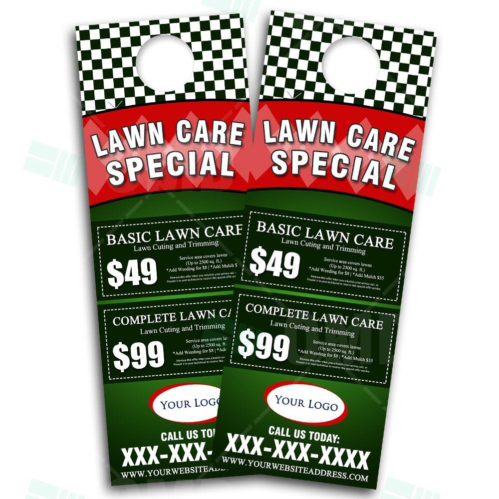 Lawn Care Door Hanger Design, Eye Catching Landscaping Marketing Door Hanger  Design. We Design