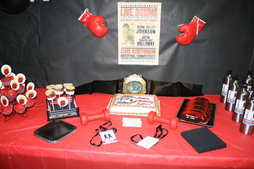 Boxing Birthday Party Ideas For The Home Pinterest Party Unique Boxing Party Theme Decorations
