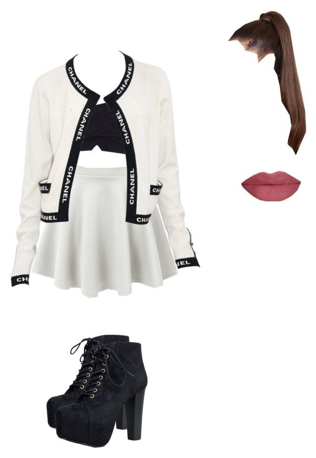 """""""hanging out with your friends"""" by browneyegirltorilove ❤ liked on Polyvore featuring River Island, LE3NO, Chanel, Speed Limit 98, She's So, women's clothing, women's fashion, women, female and woman"""