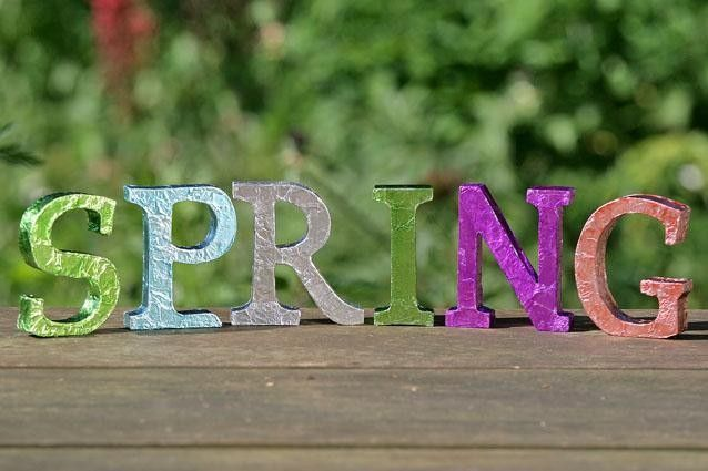 spring letters/I see these more colorful or maybe embellished