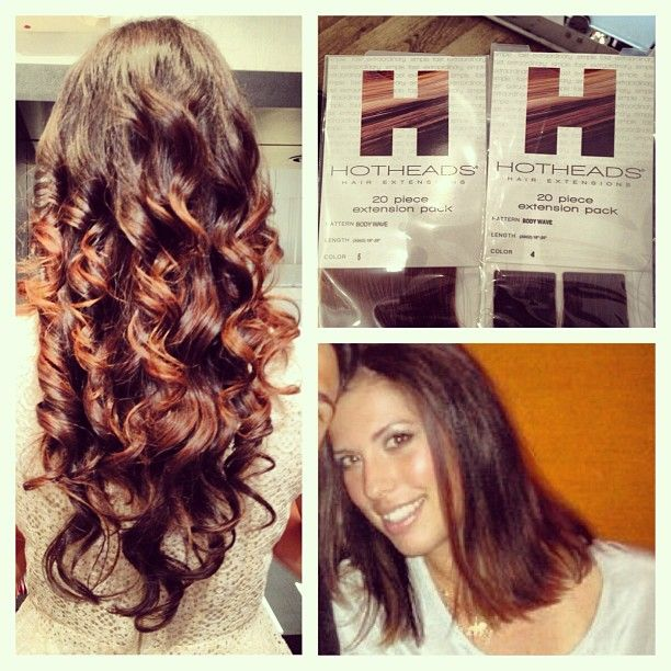 Myautumnns Photo Before After Hot Heads Extensions For This Lovely