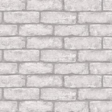 Cambridge Brick Grey Peel Stick Wallpaper In 2021 White Brick Wallpaper Grey Brick Effect Wallpaper Brick Effect Wallpaper