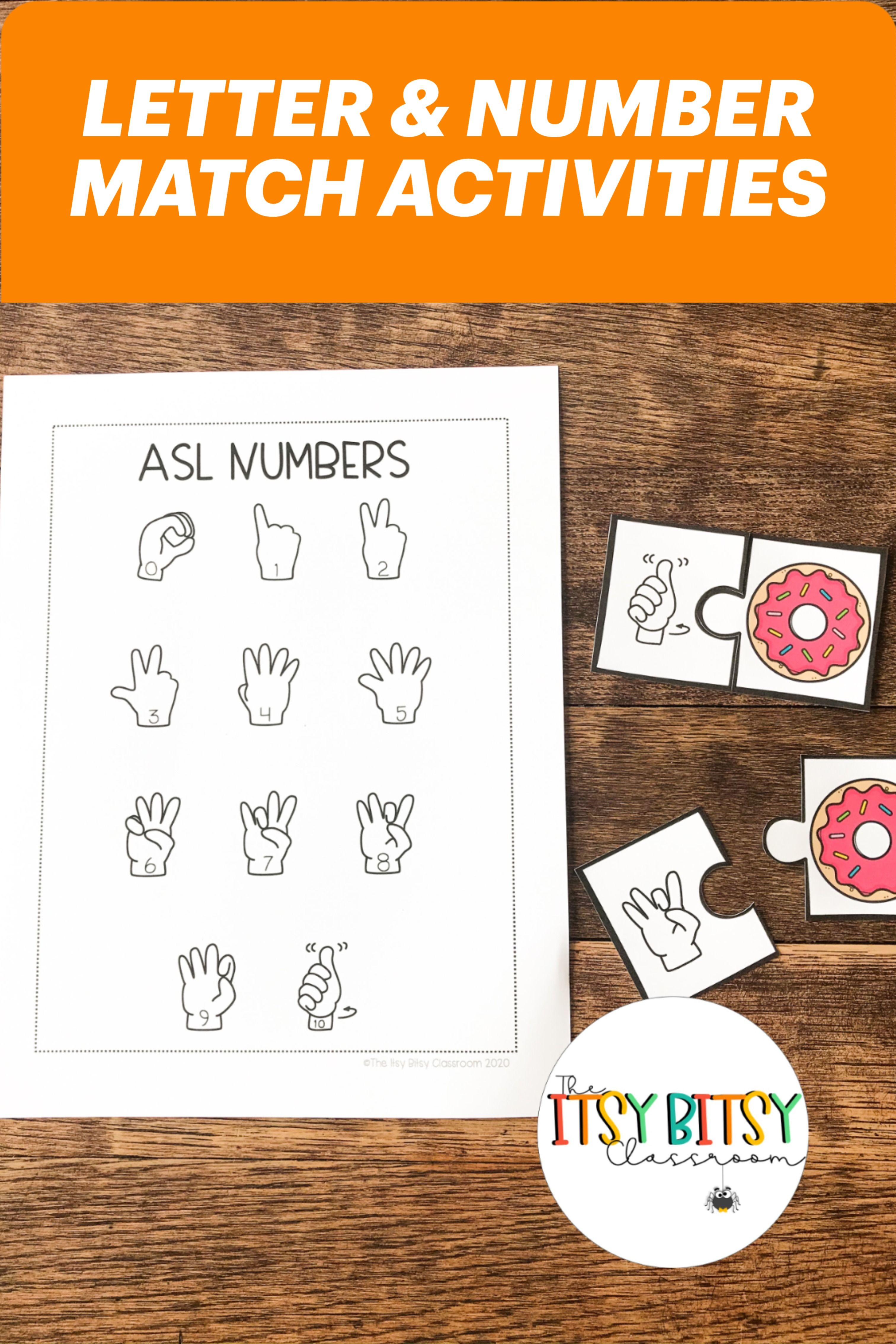 Practice Letter And Number Matching With These Asl