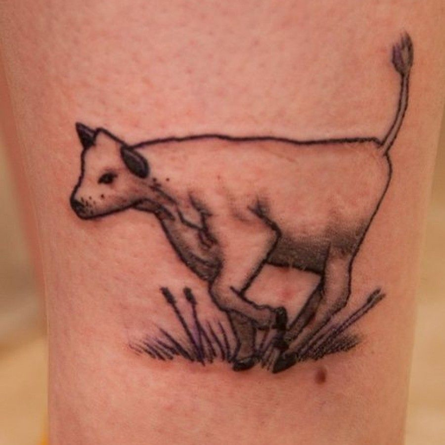 80ae59570 black and brown outline | Tattoo | Cow tattoo, Tattoos und Horse ...