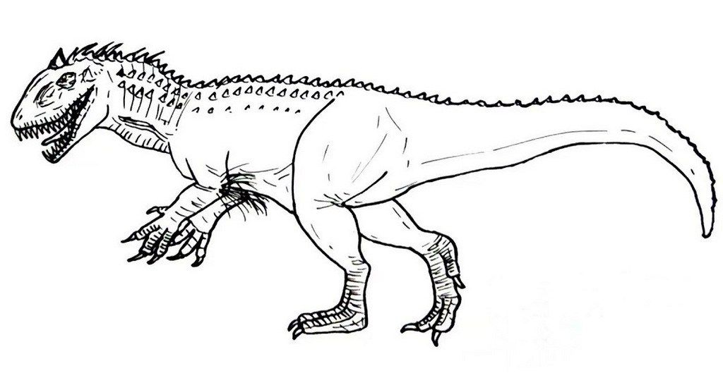 Indominus Rex Coloring Pages Sketch Coloring Page