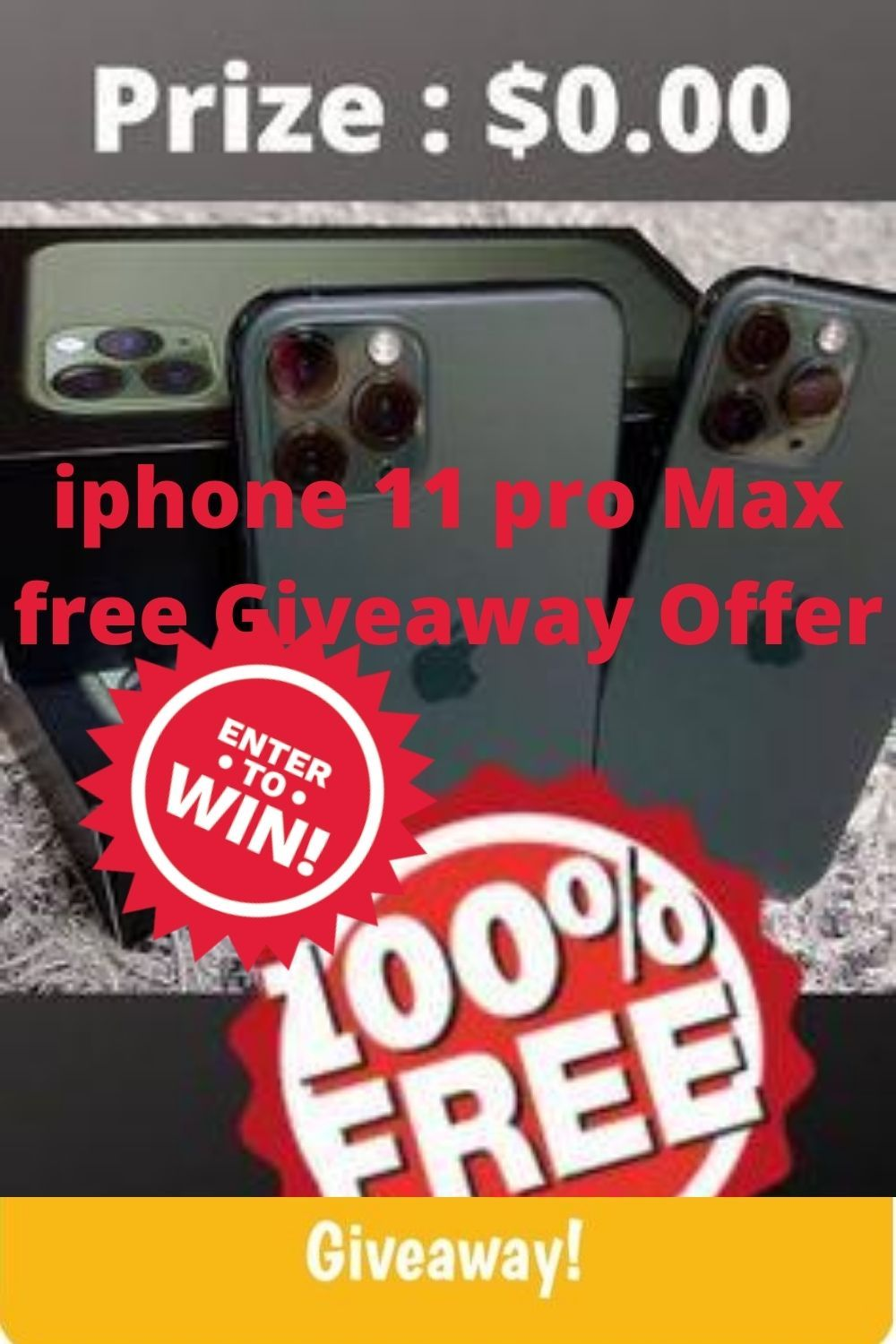 You can win a iPhone 11 Pro Max Win. Free Giveaway today ...