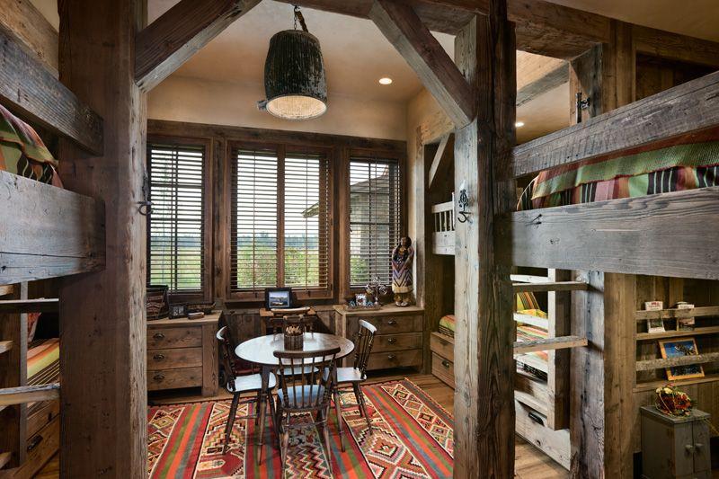 Bunk House Bedroom Montana Locati Design
